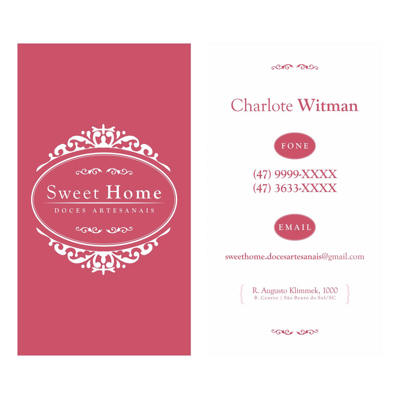 """Muitas vezes SWEET HOME"""" – Logomarca e Cartão de Visita – Camaleãoi9 Marketing MJ35"""